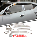 For Hyundai IX25 Creta 2015 2016 Car Full Window Trims Chrome Covers Chromium Styling Strips Exterior Decoration Accessories