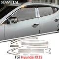 Para Hyundai IX25 Creta 2015 2016 Carro Cheio Guarnições Janela Cromo Cobre Cromo Styling Tiras Exterior Acessórios de Decoração