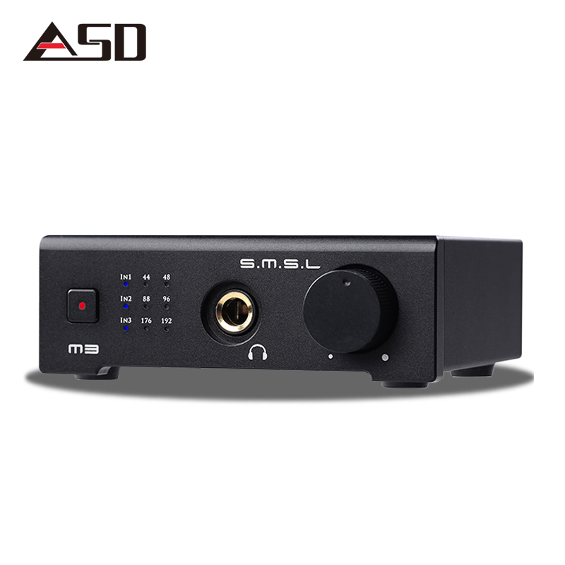 ASD SMSL M3 HIFI 2.0 24bit/192kHz DAC USB/Optical /Coaxial /Decoder Digital Audio Headphone Amplifier amp CS4398CZZ Black new listing trasam dac3 xmos hifi 192khz 24bit hifi optical fiber coaxial digital audio amp dac decoder