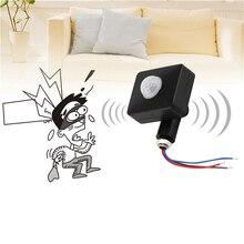 Alta Qualidade Automática 10MM 85 12MM AC 265 V PIR Infrared Sensor de Movimento Detector de Segurança de Parede LEVOU luz Ao Ar Livre de 160 Graus