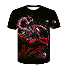 Men cartoon fashion game T-shirt  Venom  3D  short sleeve tshirt tops Tees футболка мужская tshirt  homme ajax alphalete мужская футболка 3d t