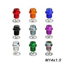 M14* P1.5MM двигатель одевается Магнитная дренажная масляная пробка посылка масляный отстойник сливная пробка для большинства автомобилей с резьбой M14* P1.5MM