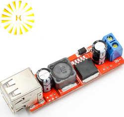 Двойной выход USB 9 В/12 В/24 В/36 В переключатель автомобильного зарядного устройства 5 в DC-DC питание модуль 3A Buck регулятор