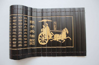 Chinese Classical Bamboo Scroll Slips famous Book of the art of war 82X20CM