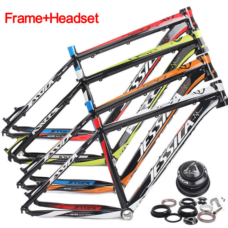 JESSICA 16/17'' Mountain Bike <font><b>Frames</b></font> 26er Aluminum Alloy MTB <font><b>Bicycle</b></font> <font><b>Frame</b></font> <font><b>set</b></font> Surper Light 44-56mm <font><b>Bicycle</b></font> <font><b>Frame</b></font> Headset image