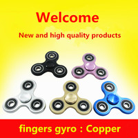 Tri Spinner Gyro Hand Spinner Copper Fidget Spinners For Autism ADHD Anxiety Stress Relief Focus Handspinner