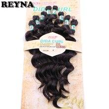 Weft синтетические волосы для наращивания плетение высокотемпературное волокно глубокая волна пучки 8 шт./компл. волосы