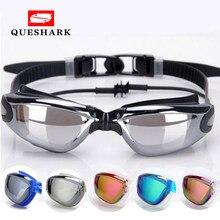f1d427d0172 Professional Adult Waterproof Swim Glasses Electroplate Swimming Goggles  Men Women Anti-fog UV Swim Sport