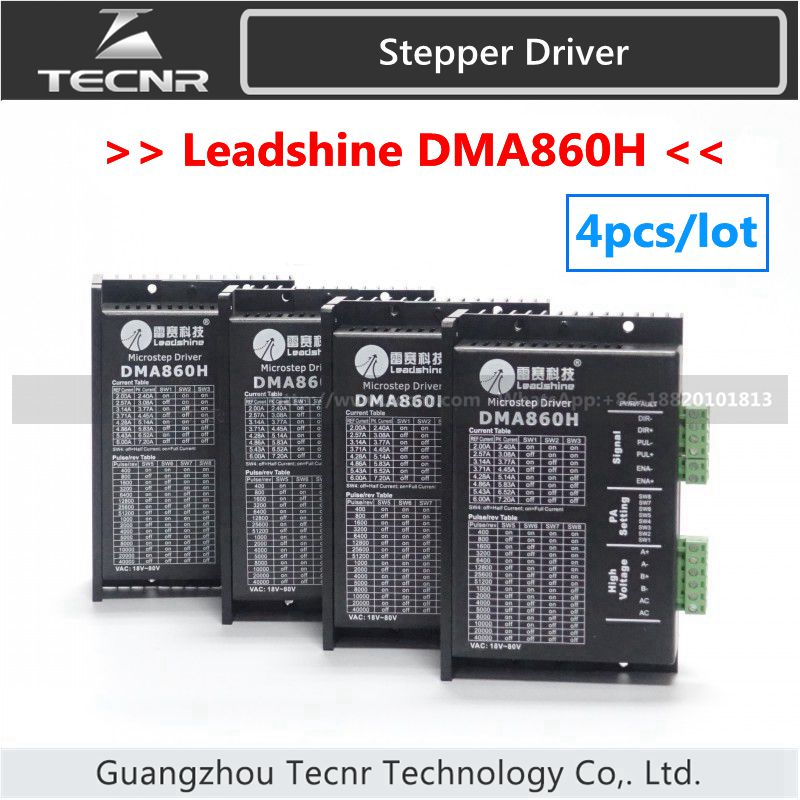 4pcs Leadshine DMA860H driver DC 24-80V for 86/110 2 Phase stepper motor replace MA860H,MA860 leadshine am882 stepper drive stepping motor driver 80v 8 2a with sensorless detection