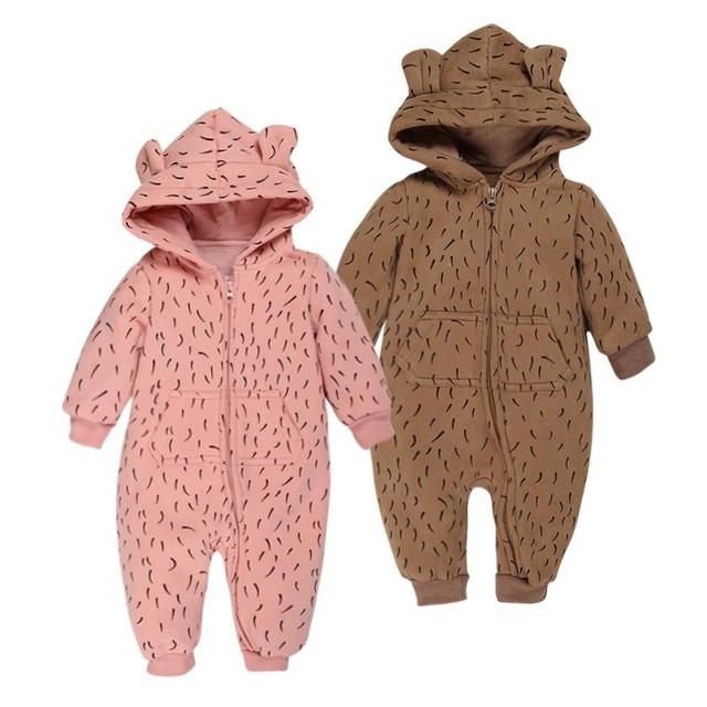 Novo infantil do bebê/criança/crianças dos desenhos animados inverno macacão de manga longa meninos/meninas roupas de bebê terno desgaste animais