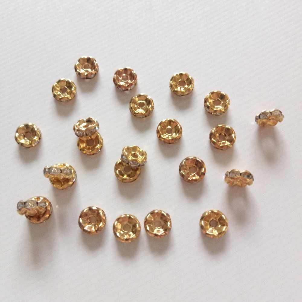 20 pcs Onda Forma Embutidos Pedrinhas Beads 6mm/8mm fit Mulheres DIY Jóias Fazer Colar Pulseira Brincos Material de frisado