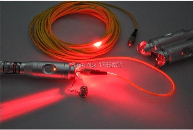 NOVO Design coaxial locator40mW exfo otdr localizador visual de falhas 40 KM Visual Fault Locator Fibra Óptica Laser Cable Tester Equipamento de Teste