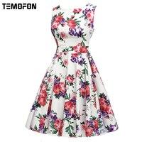 2017 Sexy Party Summer Dresses Fashion Cotton Women Print Dress Sleeveless Women Casual Dress Clothing Bodycon