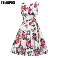 2017 Sexy Party Summer Dresses Fashion Cotton Women Print Dress Sleeveless Women Casual Dress Clothing Bodycon