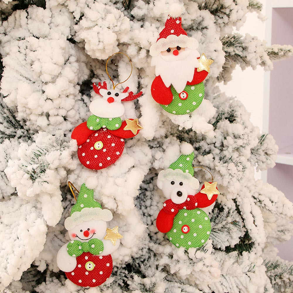 New Year Christmas Ornaments Gift Santa Claus Snowman Tree Toy Doll Hang Decorations natale noel natal kerst navidad home decor