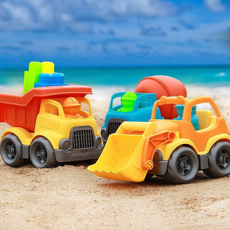 Baby speelgoed auto kinderen strand speelgoed auto zand strand speelgoed bouw voertuig techniek auto baggeren schop play zand tool