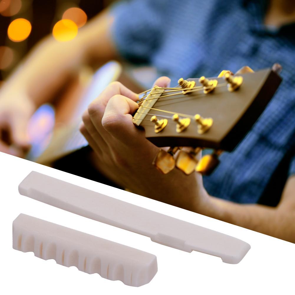 6 Strings Folk Ballad Guitar ox bone Up and down piano pillow (72 mm)Guitarra Part Accessories