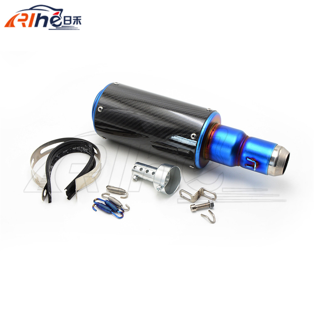 hot selling colorful style motorcycle muffler 50mm motorbike carbon fiber exhaust pipe For Suzuki GSXR600 motorcycle accessories motorcycle muffler carbon fiber 50mm exhaust pipe fit for suzuki gsxr600 gsxr750 gsxr1000