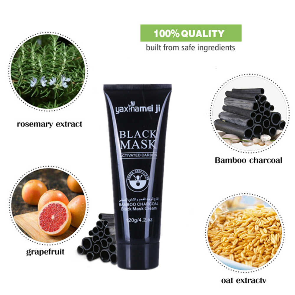 Eliminación de espinillas de carbón de bambú máscara de limpieza profunda pelar los poros de la máscara para reducir el tratamiento del acné control de aceite