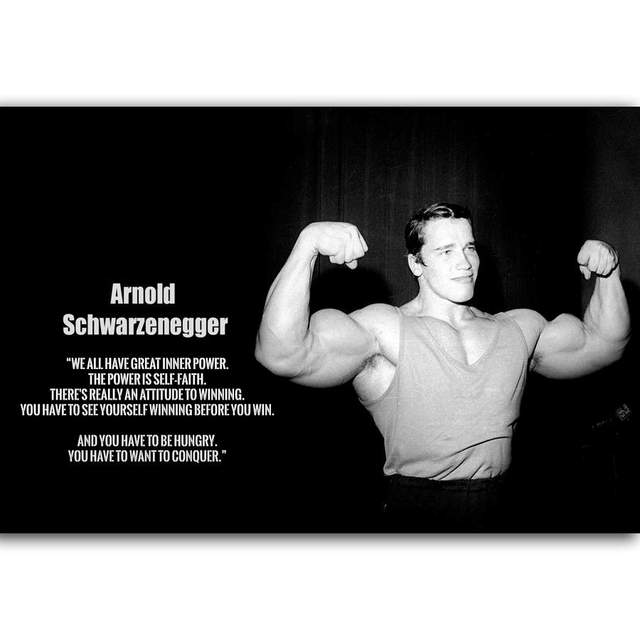 Great G2592 Arnold Schwarzenegger Motivation Bodybuilding Quotes A4 Art Poster  Silk Light Canvas Painting Print Home Decor