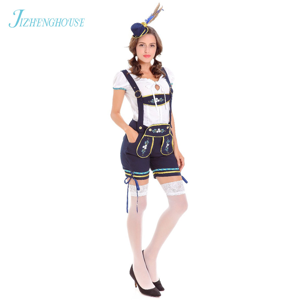 JIZHENGHOUSE Halloween Party Costume Beer Girl Clothing Cosplay Costume Sexy Outfits