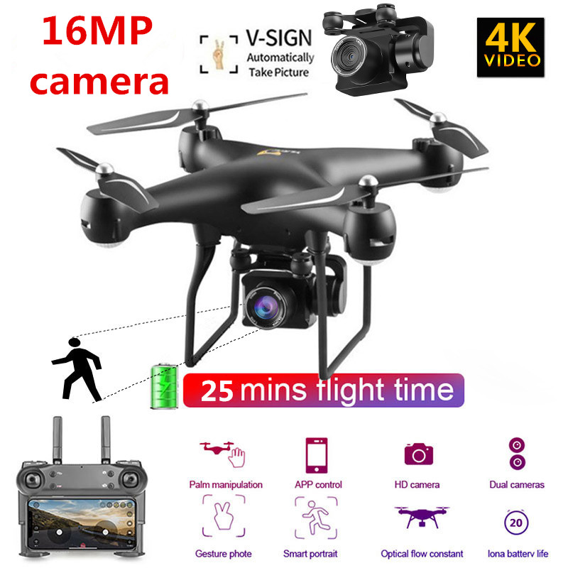 New RC Drone WIFI FPV 4K Adjustable Live Video Camera One Key Return Head-free App Control Altitude Hold RC Quadcopter