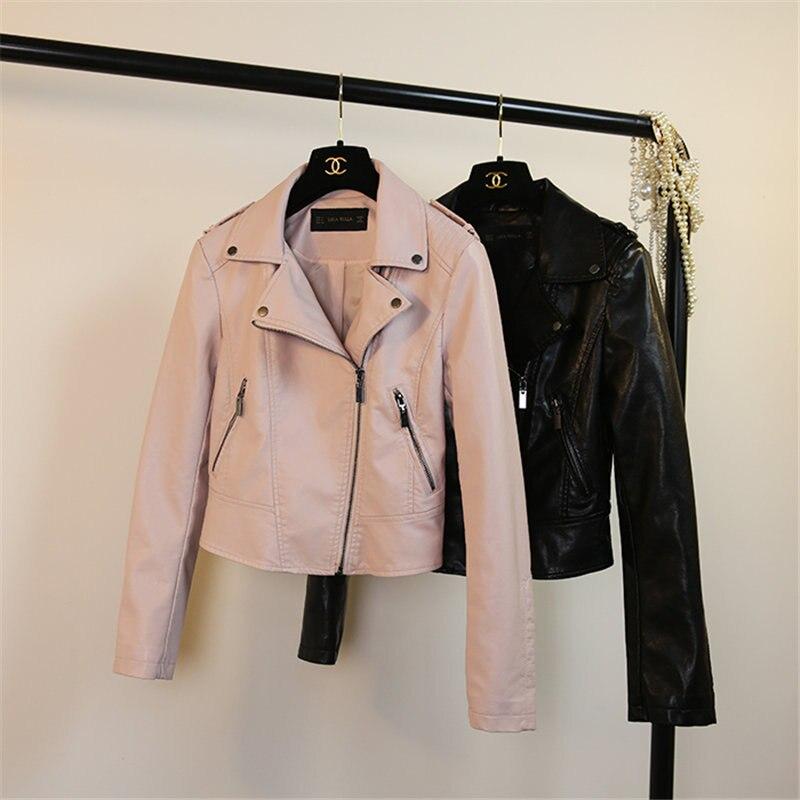 NºWinter Leather Jacket Women Veste En Cuir Femme PU Leather Women s ... 9ebe520372a7