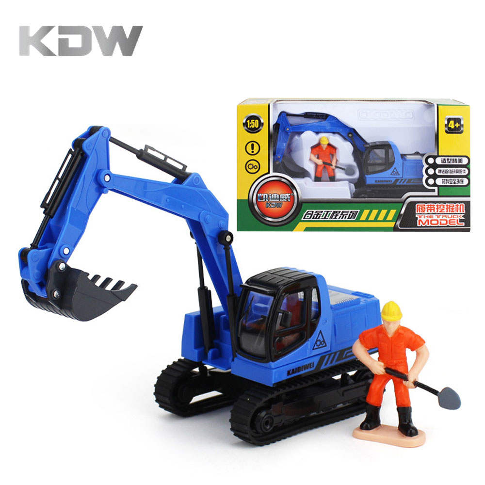 KDW Kaidiwei 1:50 Cars Excavator Toys for Kids Truck Toys Crawler Excavator Forklifts Excavating Machinery Metal Alloy Model
