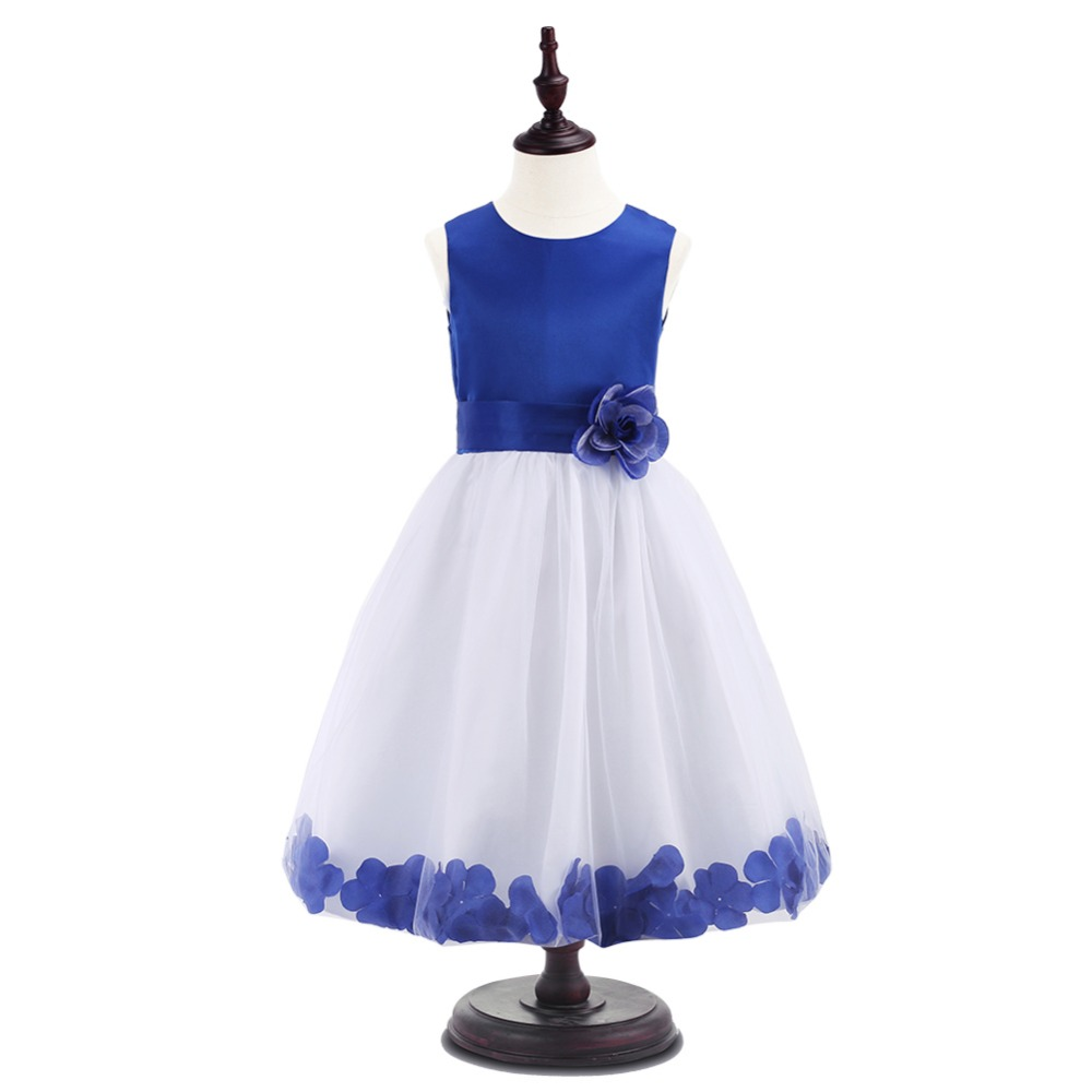 New High Quality Sleeveless Girl Children Dress Party solid Ball Gown Princess Baby Girl Dress Birthday clothes 7 colors торшер artelamp a5700pn 1bk