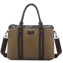 New Handbag Men & Womens Canvas Briefcase Cotton Shoulder Messenger Bag