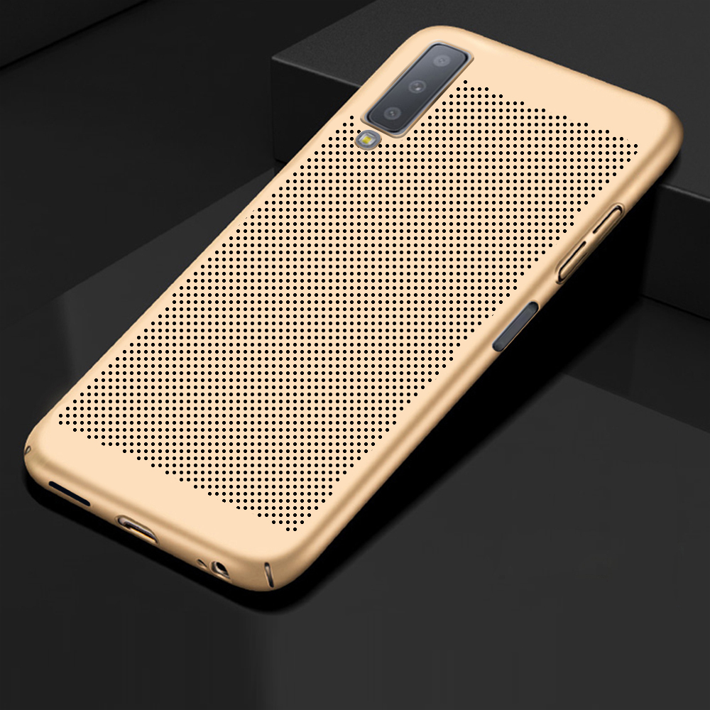 Ultra Slim Heat Dissipation PC Full Case For Samsung Galaxy A8 A6 J4 J6 Plus A7 J8 2018 Note 9 8 A6S S10 E Breathable Shell