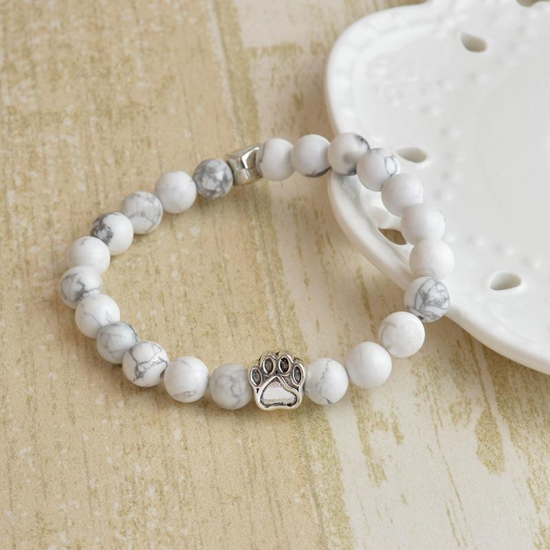 Jewelry & Access. ...  ... 32753727949 ... 4 ... QIHE JEWELRY Tiny Anitique Paw Charm Stone Bracelet Pet Memorial Cat Dog Lovers Jewelry For Men Women Uni ...