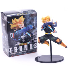 цена на 17CM Dragon Ball Z BWFC Super Saiyan Trunks Figure PVC Action Figure Model Dragonball Trunks Toys