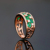 Caimao 1.65ct Joyería 18 k Oro Magnífico Esmeralda y 0.67ct Diamond Engagement Natural