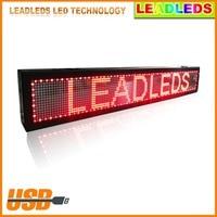 גובה איכות LED מסר דיגיטלי הזזת הגלילה רכב הרשם אור תצוגת אוטובוס בתוך LED גלילה לתכנות הודעה אדומה