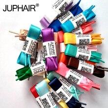 JUP 1 Pair 120cm Wholesale Fashion Colorful Silk Ribbon Women Girl Flat Shoelaces Sneaker Sports Shoes Fantastic Shoelace Laces