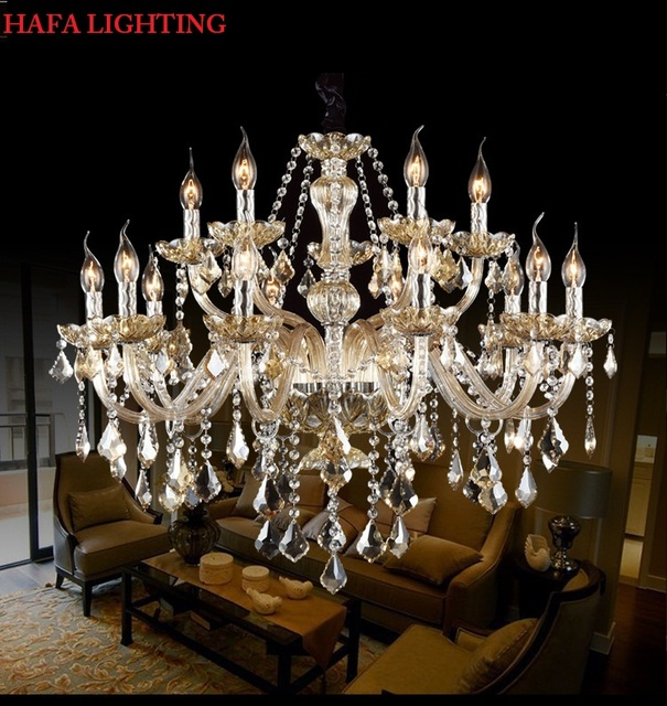Free Shipping Crystal Modern Light Chandelier crystal Living Room lustres de cristal  Pendants Chandeliers Home Lighting Indoor