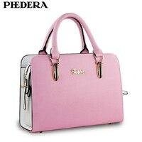 PHEDERA Hot Fashion Ladies Totes Bags Summer Women Handbag High Quality PU Leather Pink/Purple Female Purse Handbags 2018
