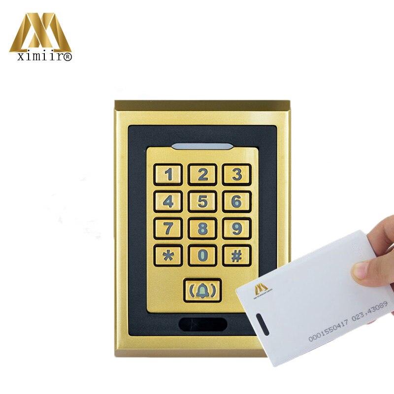 Antipoussière 8000 utilisateurs 125 KHz RFID carte et mot de passe autonome contrôle d'accès de porte IP65 étanche système de sécurité de porte M04