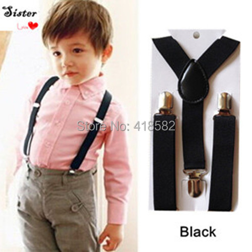 BD001-S 600 Pcs/lot  Wholesale Baby Suspenders 2.5cm Width Kids Elastic Braces Y-back Boys Suspenders DHL FEDEX Free Shipping