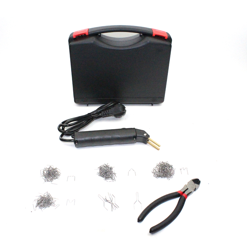 220V EU Plug Mini  Hot stapler plastic repair kit Hot stapler Plastic Welding machine With staples hot stapler smart repair replacement staples kit hs 013xf
