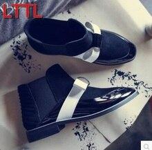 2017 Outono gravata borboleta estilo Botas moda botas de tornozelo calcanhar grosso bota de couro preto vestido de botas sexy gladiador botas