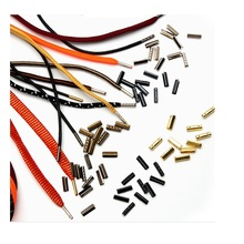 500Pcs/Lot 3X14.5Mm Bronze Gold Silver Black Shoelaces Shoes Lace Tips Bottom End Zipper Shoes Lace Stopper Top Of Shoelace