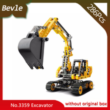 Bevle Store Lepin 3359 286Pcs Technic Series Tracked excavator Model Building Set Blocks Bricks Children For Toys Decool