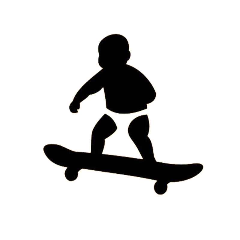 14.3*14.3CM Stylish Baby Scooter Car Decals Lovely Motorcycle Vinyl Sticker Black/Silver C7-0150