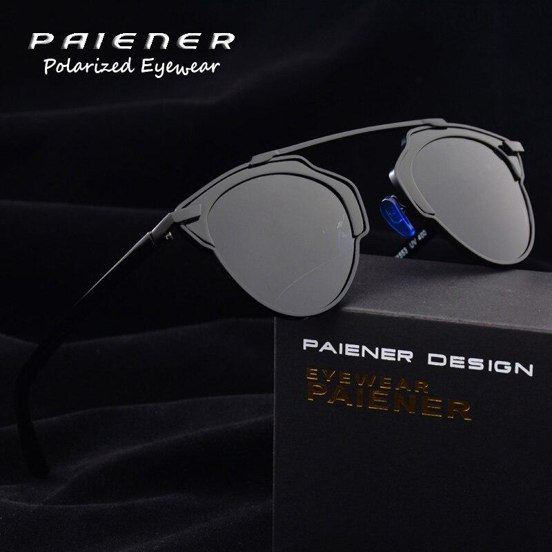 polarized driving glasses men sun glasses round cat eye sunglasses women Brand design Metal frame uv400 eyewear oculos de sol