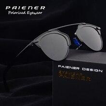 e1d563df45 PAIENER polarized driving men sun glasses round cat eye sunglasses women  uv400
