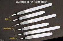 Sakura 6Pcs/set Large Capacity Water Brush Watercolor Art Paint Nylon Hair Painting For Calligraphy Pen