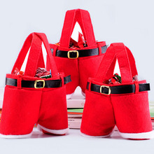 New Santa Pants Candy Bags Christmas Decorations for Home Xmas Cute Christmas Gifts Wine Bottle Bag