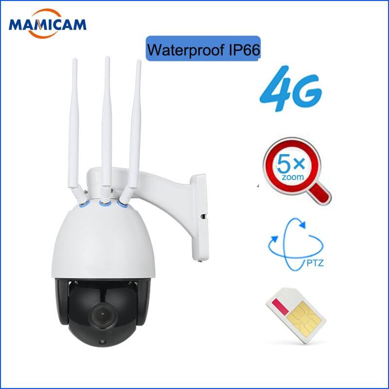 Caméra 4G avec carte SIM HD 1080 P 5X Zoom dôme caméra IP nuit IR 60 m caméra CCTV caméra TF carte Audio bidirectionnelle DHL gratuite